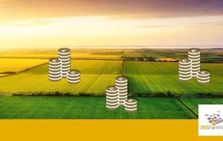 Felder mit Euromünzen