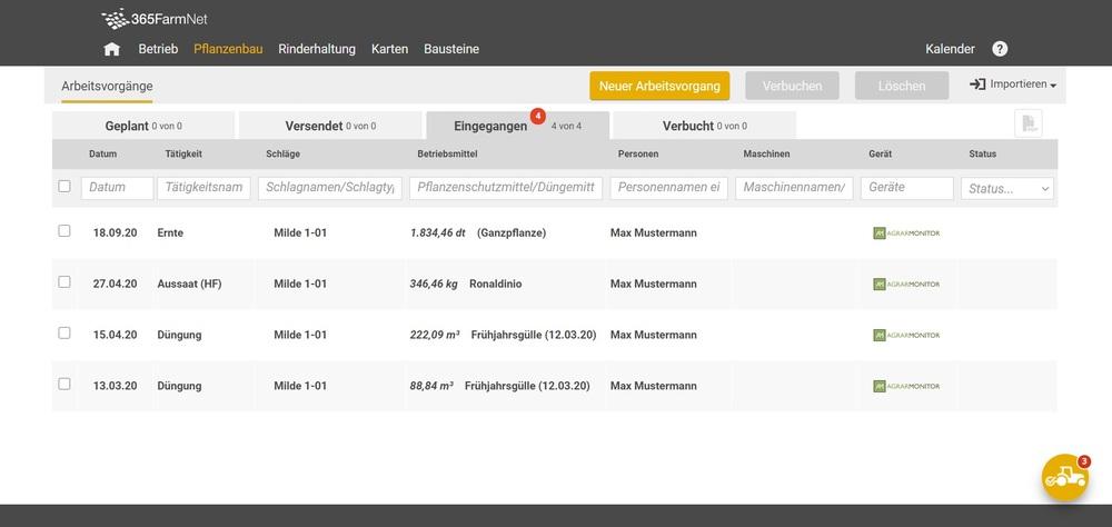Zrzut ekranu AGRARMONITOR Connect