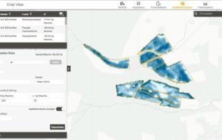 Screenshot CLAAS Crop View Applikationskarte