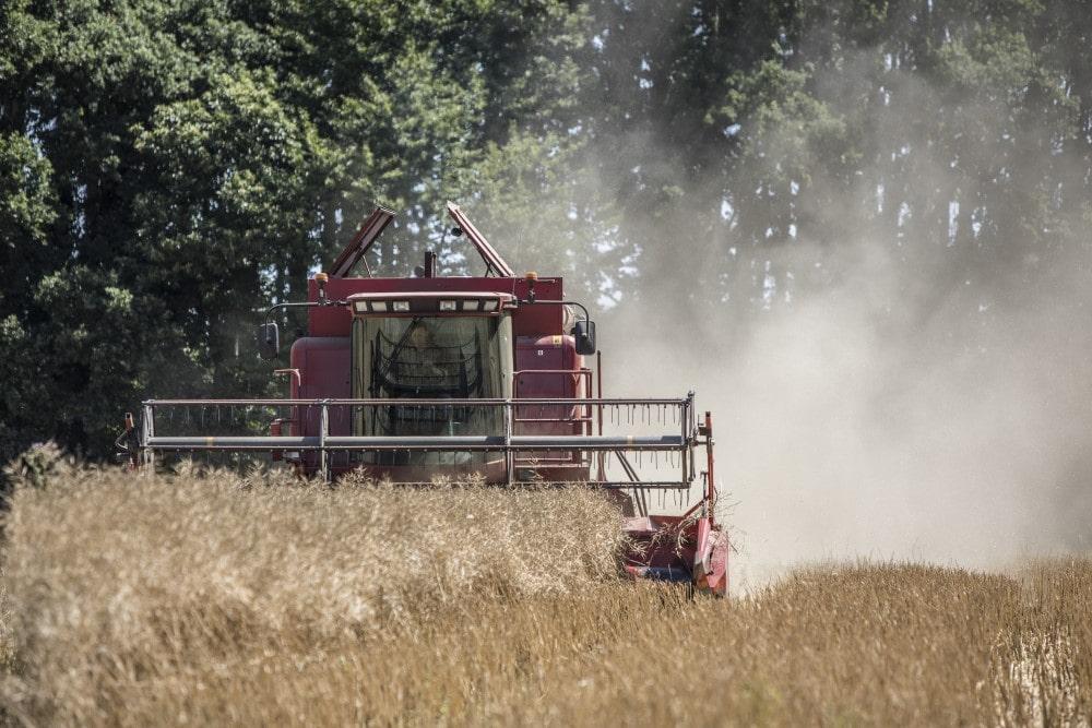Tracteur autonome au champ. Agriculture intelligente.