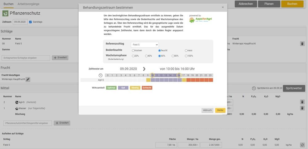 Screenshot Spritzwetter Assistent