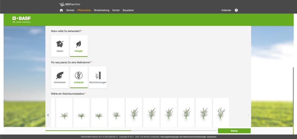 Screenshot BASF Bedingungen