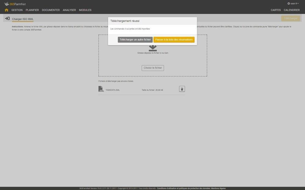 Captures d'écran ISO-XML