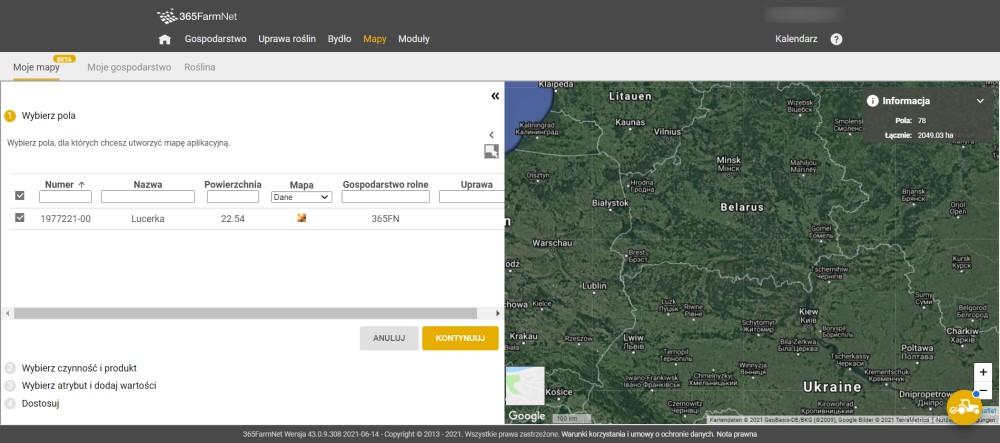 Mapy aplikacyjne